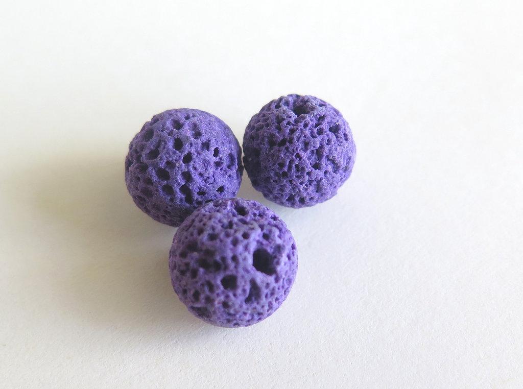 10 Perle di lava viola PFL104