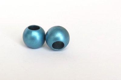 20 Perle a foro largo azzurro PFL111