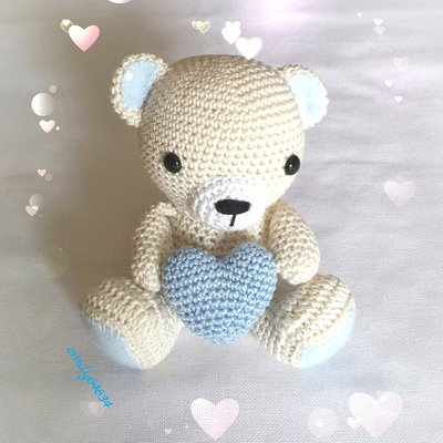 Orsetto amigurumi Teddy fatto a mano all'uncinetto personalizzabile