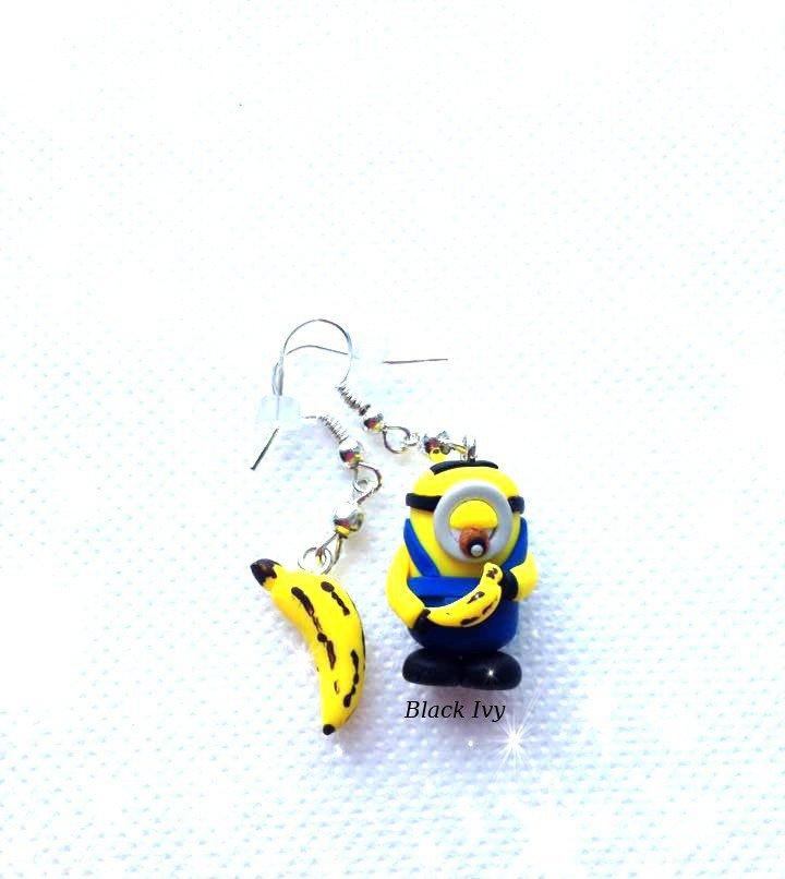 Orecchini pendenti Minion