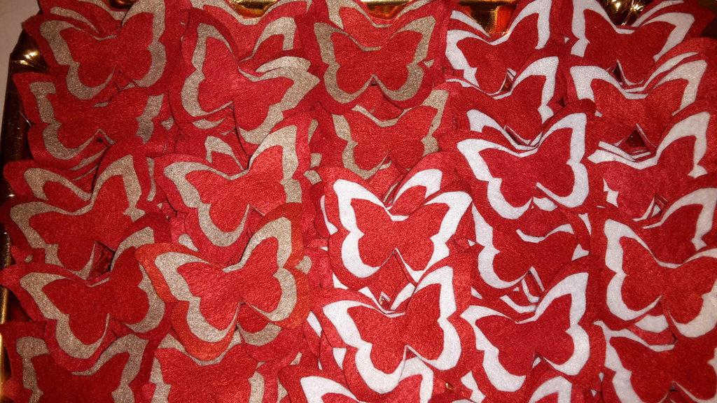 farfalla multicolore calamitata