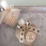 Cuori in lino hand made