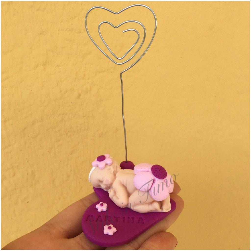 Portafoto bebè personalizzato con nome idea bomboniera