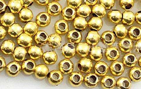 perline distanziatrici dorate 4 mm 20 pz