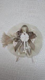 Sacchetto bomboniera, segnaposto  porta confetti  con gessetto per matrimonio