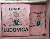 Set asciugamani viso+ospite frozen