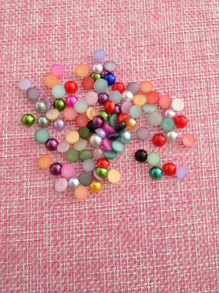 100 perline colorate 5 mm
