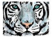 Aceo  tigre acquerello dipinto a mano