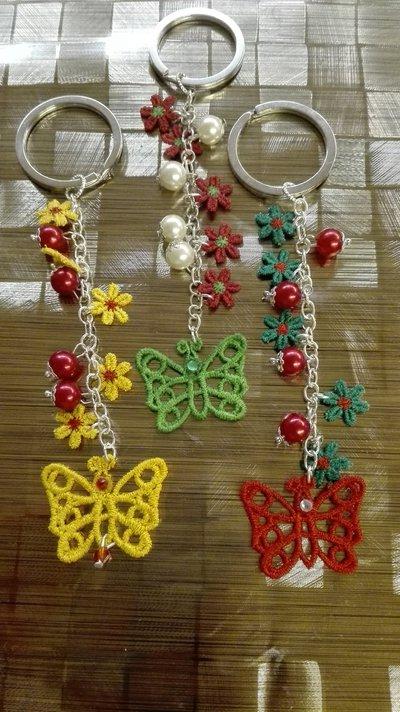 Portachiavi con farfalla