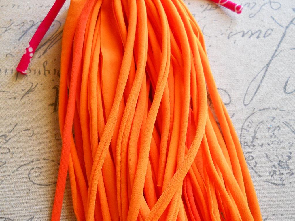 5 FILI IN FETTUCCIA PER BRACCIALI arancio – 433
