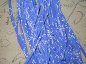 5 FILI IN FETTUCCIA PER BRACCIALI blu – 423