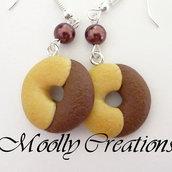 Orecchini biscotti Abbracci in Fimo