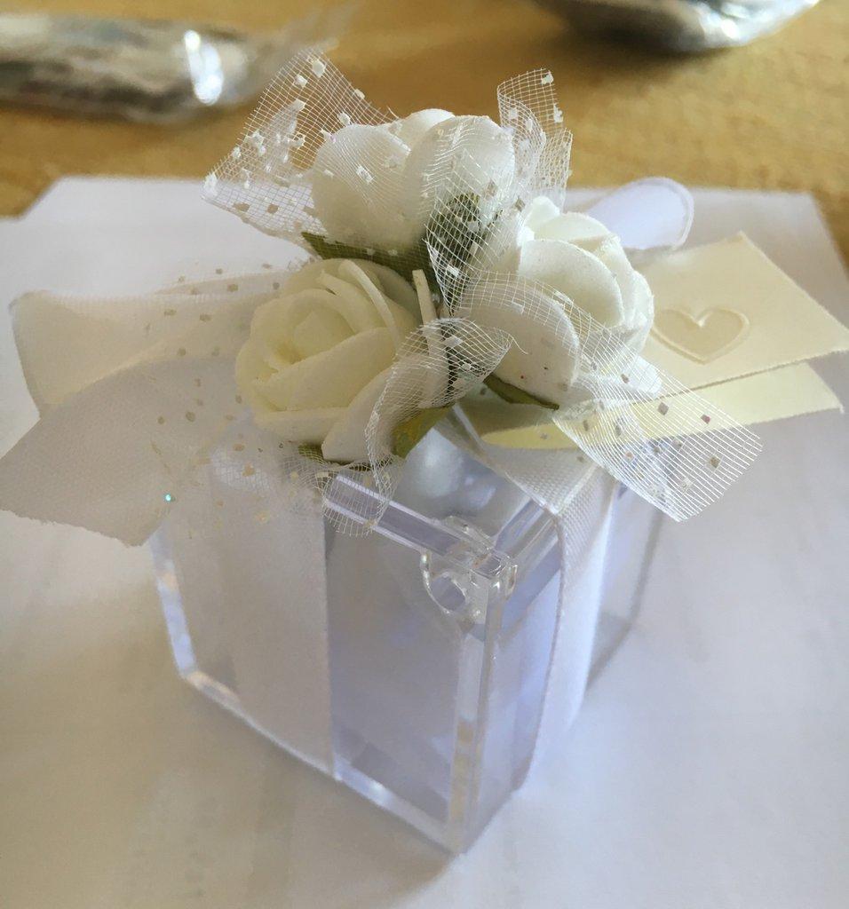 Bomboniera, scatola plexiglas