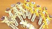BOMBONIERA COMPLETA  SEGNALIBRO mod. 2  MASHA E ORSO - PERSONALIZZABILE - compleanno - battesimo nascita - -no fimo
