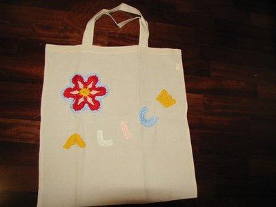 borsa in cotone con manici