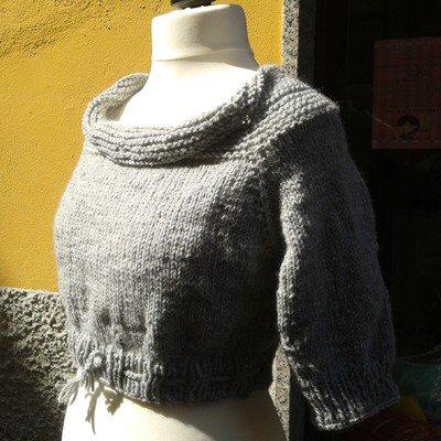 Maglione da Donna con collo largo e maniche 3/4