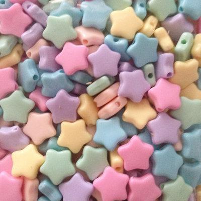 100 perle Stella 10 mm col. pastello