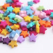 100 perle Stella 10 mm colorate