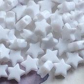 100 perle Stella 9 mm bianche