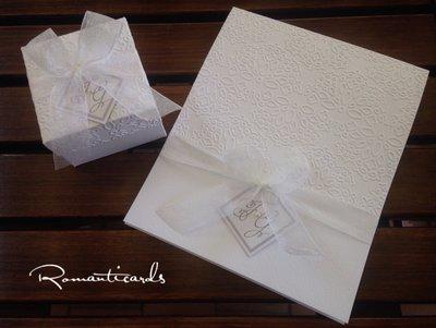 Partecipazione e Scatolina porta confetti  by Romanticards