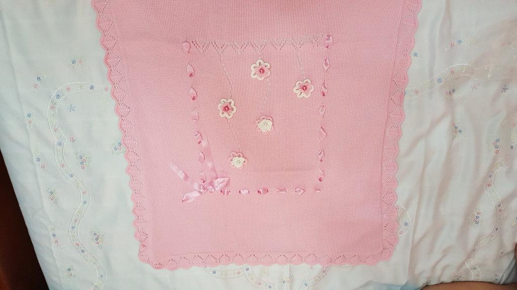 Scialle di cotone per neonata