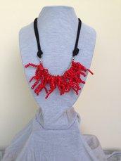 """Collana in rosso modello """"Ariel"""""""