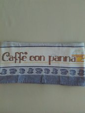 Asciugapiatti con caffè