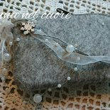 Borsello in feltro grigio chiaro