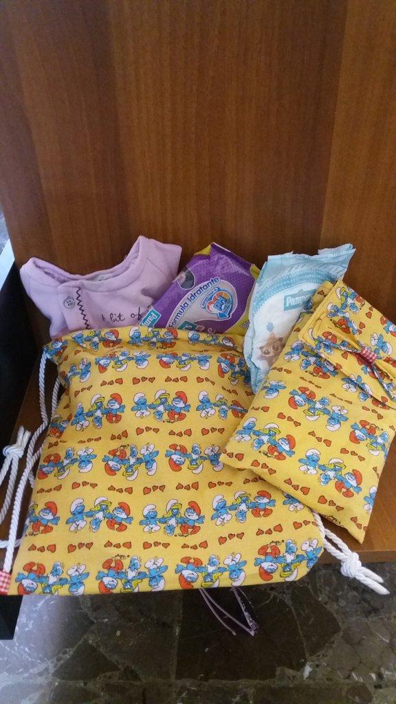 Zainetto porta pigiamino e porta pannolini