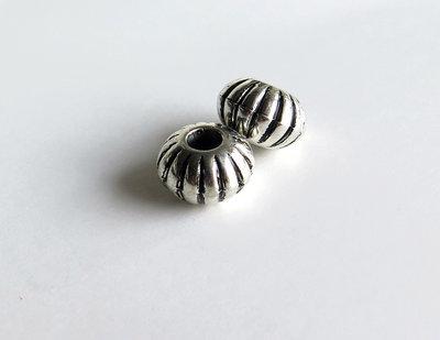 6 Perle a foro largo in argento acrilico PFL149