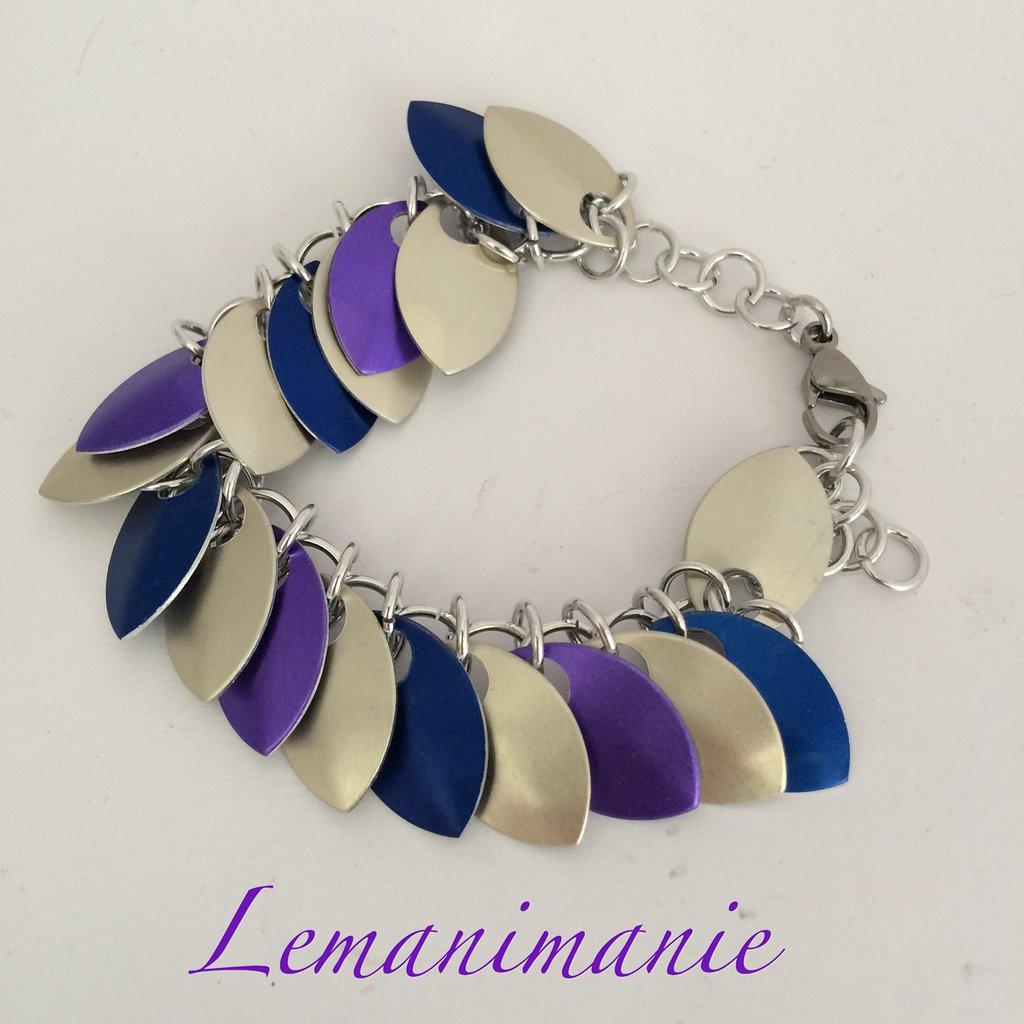 #bracciale #scaleswwave #azzurro/viola/champagne
