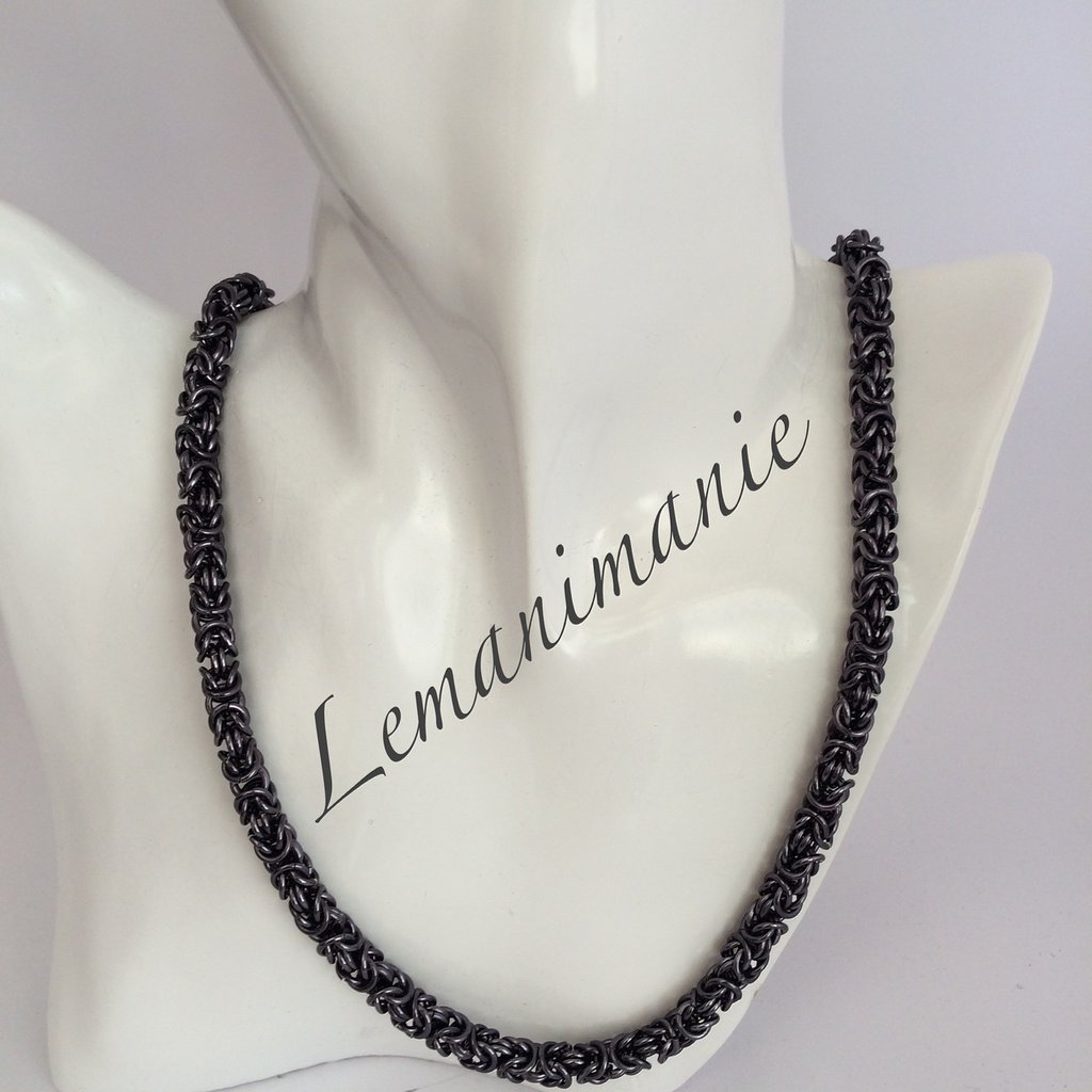 #collana #chainmail #black ice