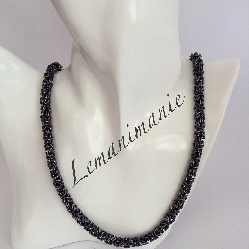 #collana #chainmail #black ice