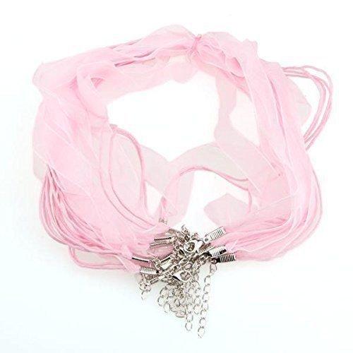1 Base collana organza col. rosa