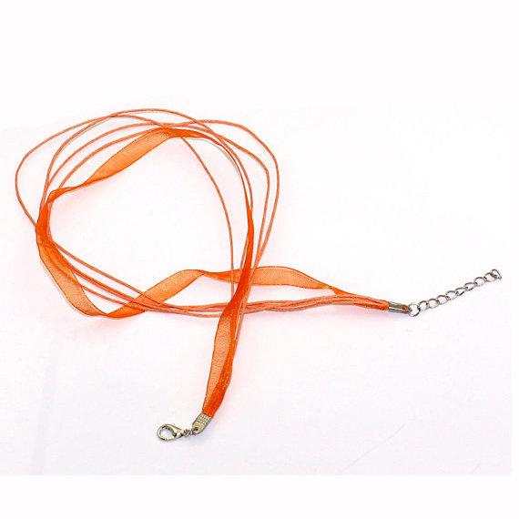 1 Base collana organza col. arancione