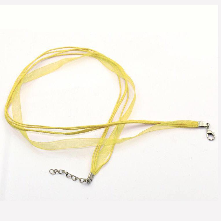1 Base collana organza col. giallo