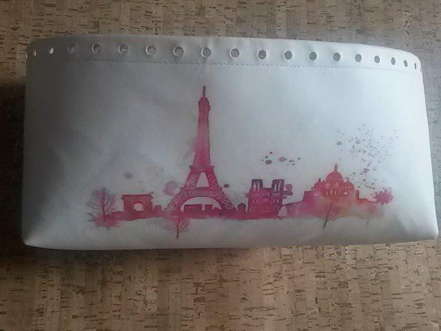 fondo ecopelle stampa skyline PARIGI