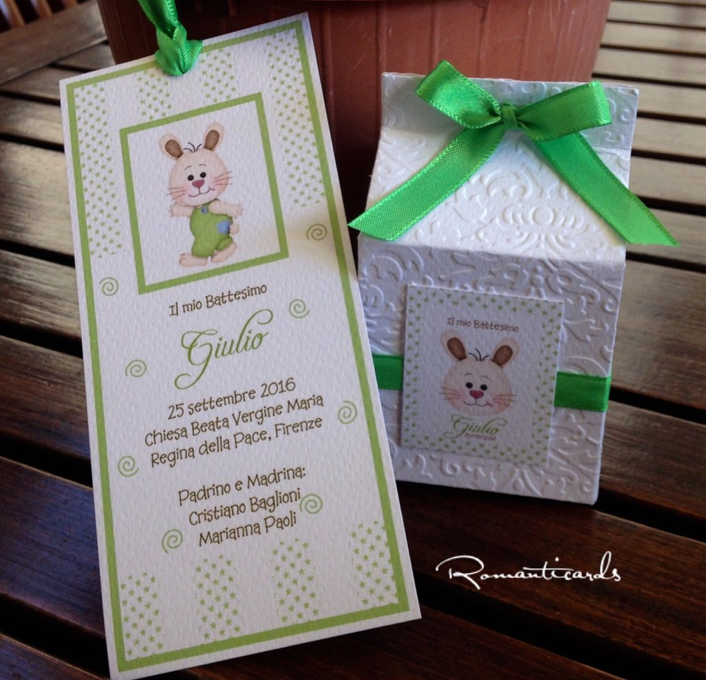 Segna libro e Scatolina portaconfetti by Romanticards