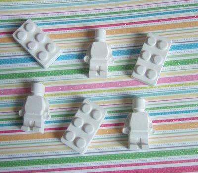 GESSETTI PROFUMATI SEGNAPOSTO BOMBONIERA MATTONCINI OMINI LEGO