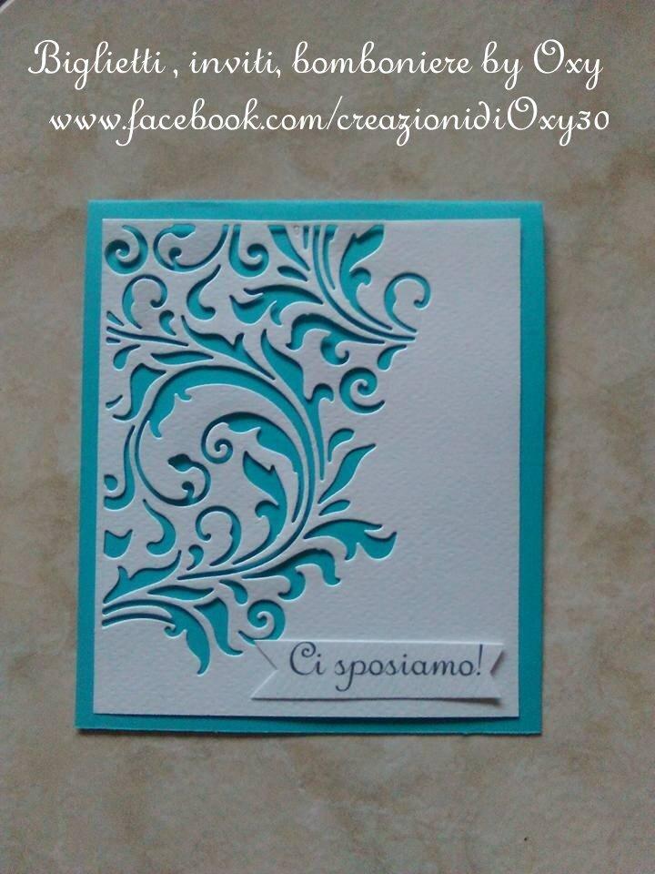 Partecipazioni Matrimonio Azzurro Tiffany : Partecipazione per matrimonio color tiffany verde acqua