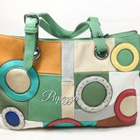 Borsa in eco pelle multicolor