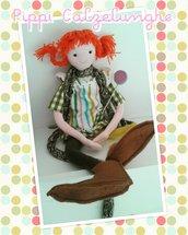 Bambola di stoffa Pippi