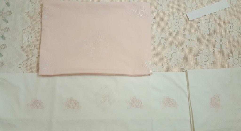 Coordinato copertina e lenzuolino per culla