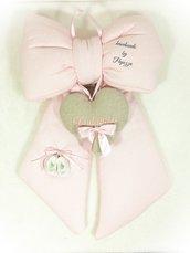 Fiocco nascita classico rosa