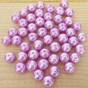 50 Perle 8 mm perline col. lilla perlato