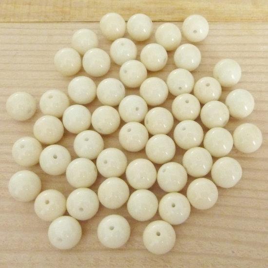 50 Perle 8 mm perline col. beige