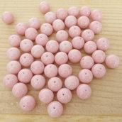 50 Perle 8 mm perline col. rosa