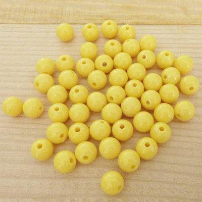50 Perle 8 mm perline col. giallo