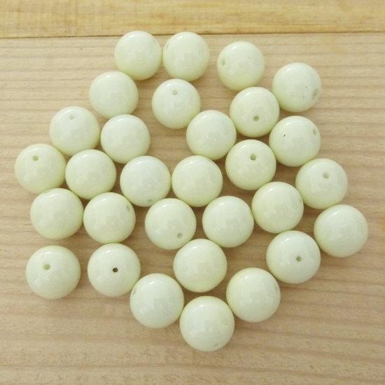 30 Perle 10 mm vetro col. beige
