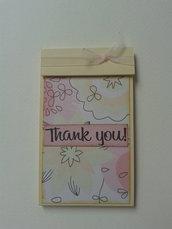 Block notes borsa blocchetto tascabile rosa e giallo con fiori